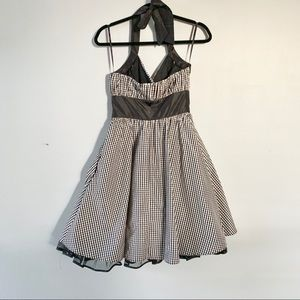 Betsey Johnson Dresses - Betsy Johnson Gingham Halter Dress with Tulle
